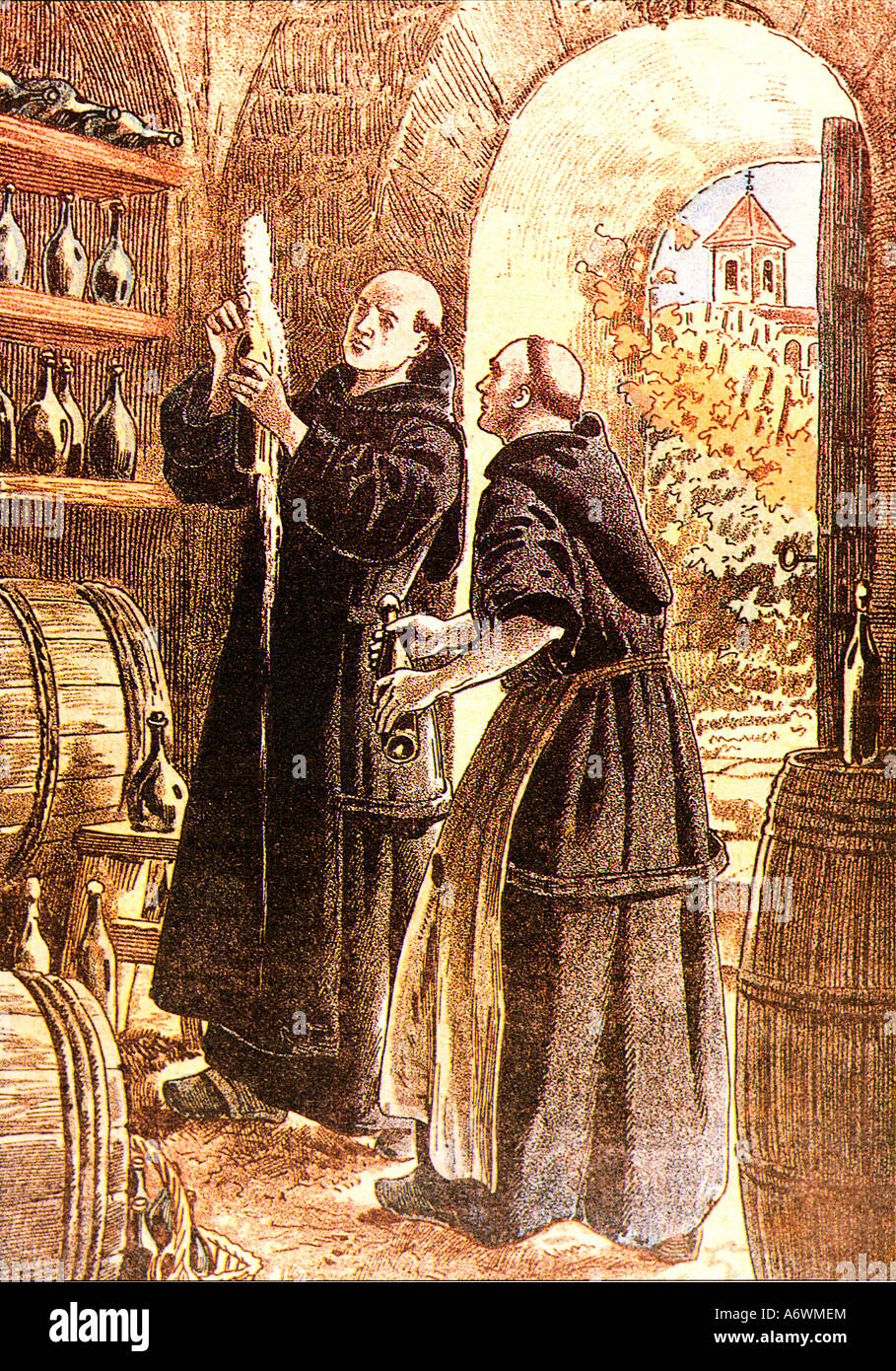 Dom Perignon The eponymous monk who died in 1715 and was an innovator in  the production of Champagne