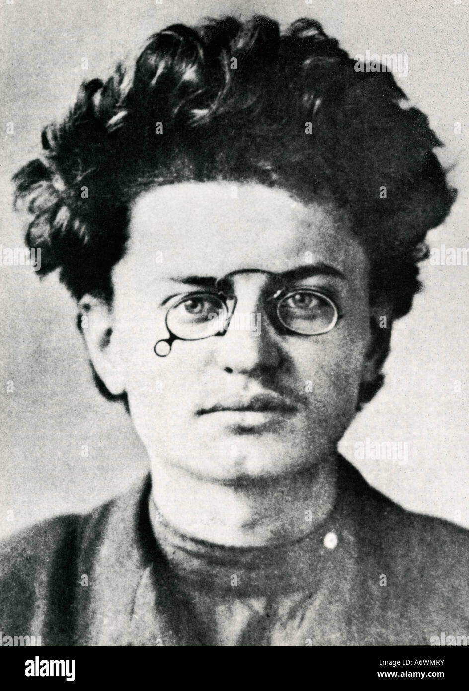 Leon Trotski born Lev Davidovitch Bronstein as photographed by the police after his first arrest in 1898 - Stock Image