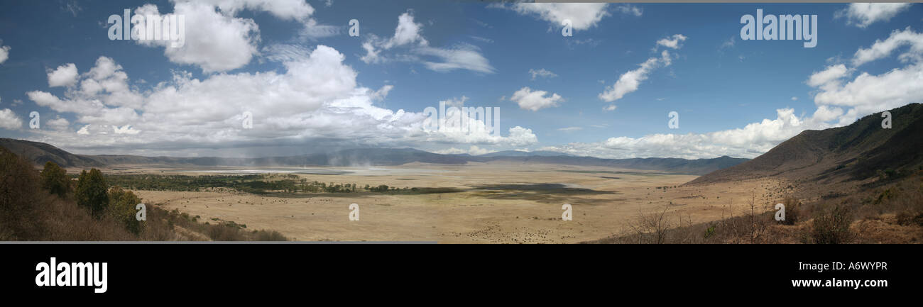 ngorongoro crater Tanzania view Stock Photo