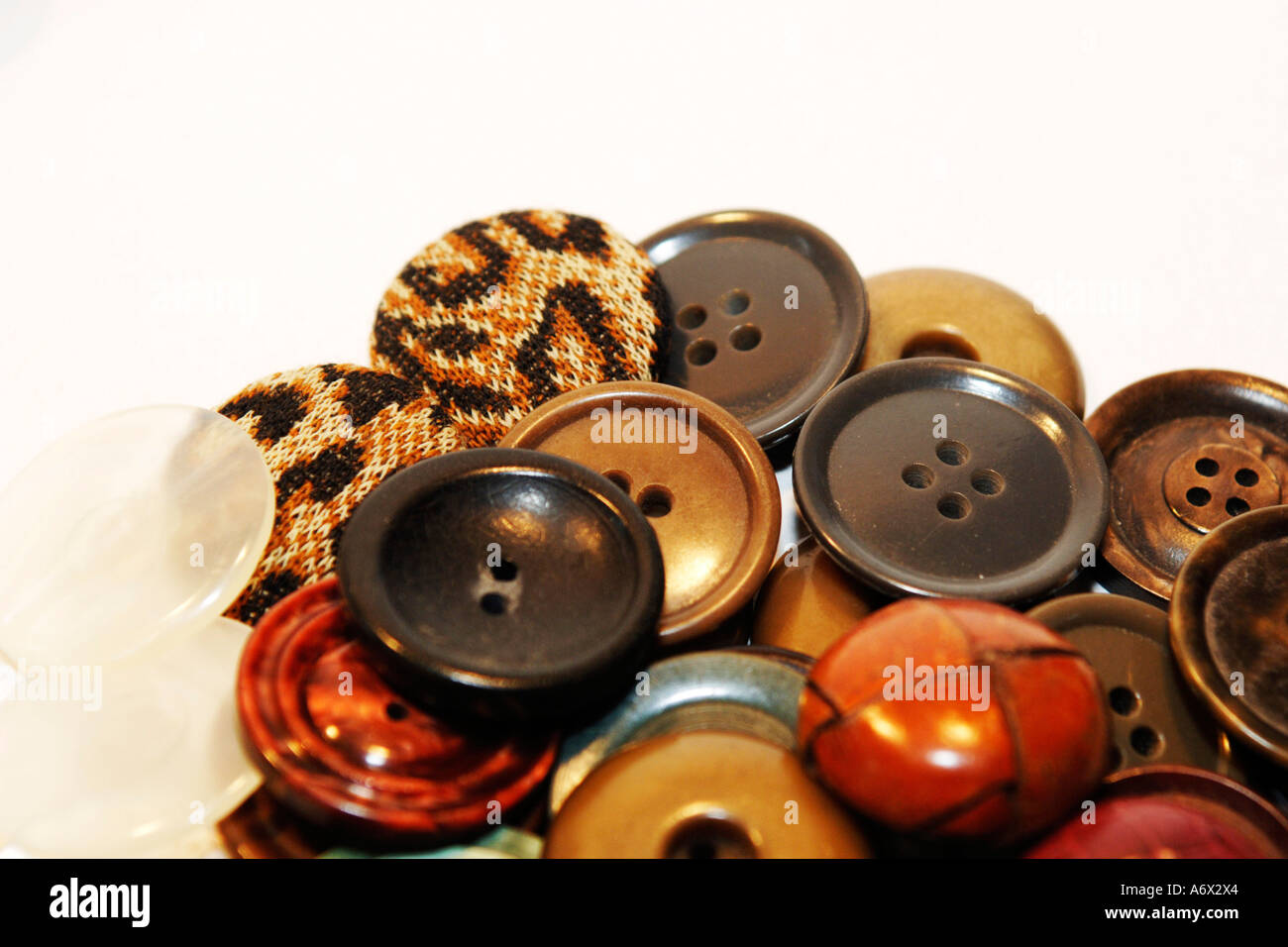 Multi-colored, Vast Selection of Buttons - Stock Image