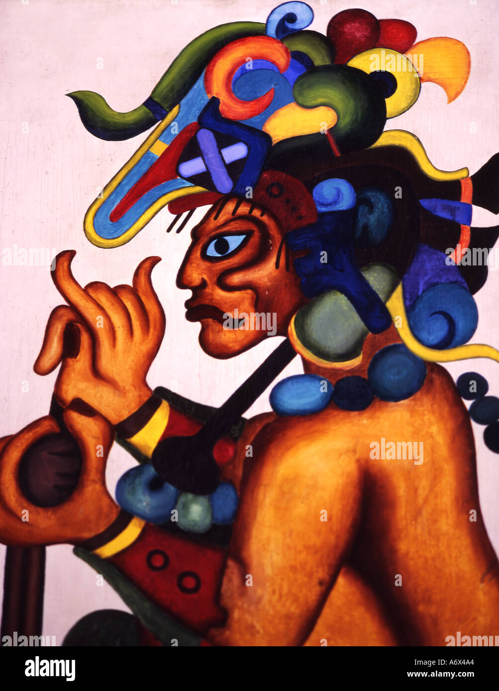 Guatemala mayan figure - Stock Image
