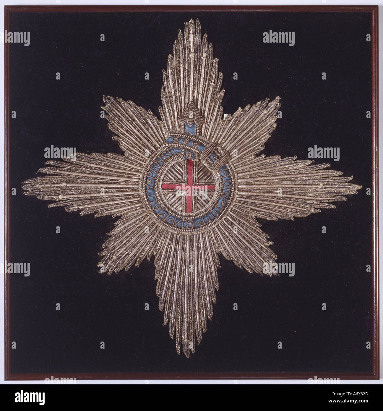 Badge and Star of the Order of the Garter. England, 15th century. - Stock Image