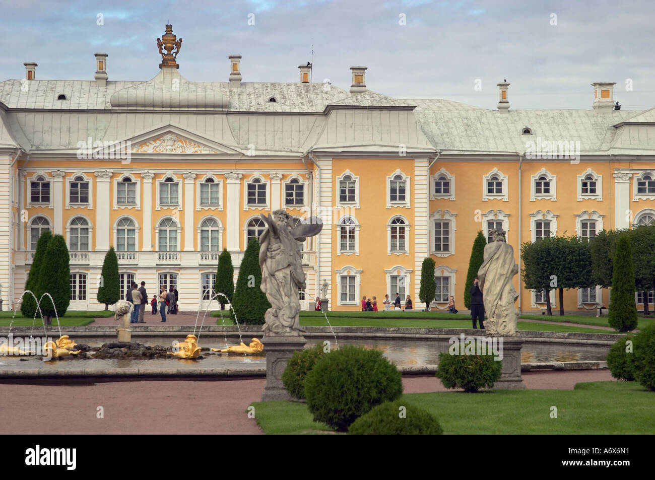 Bolshoy Palace in Peterhof Stock Photo