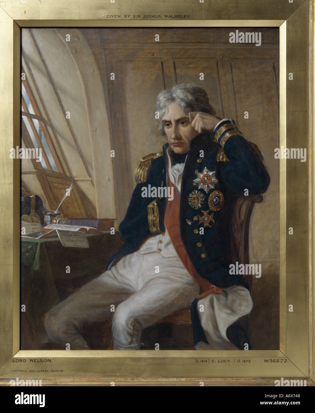 Vice Admiral Lord Nelson by Charles Lucy. Great Britian, 19th century. - Stock Image