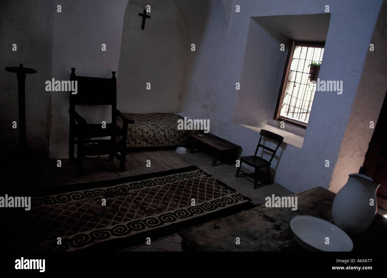 Nun s living quarters Santa Catalina Convent Arequipa Southern Peru Colonial architecture - Stock Image