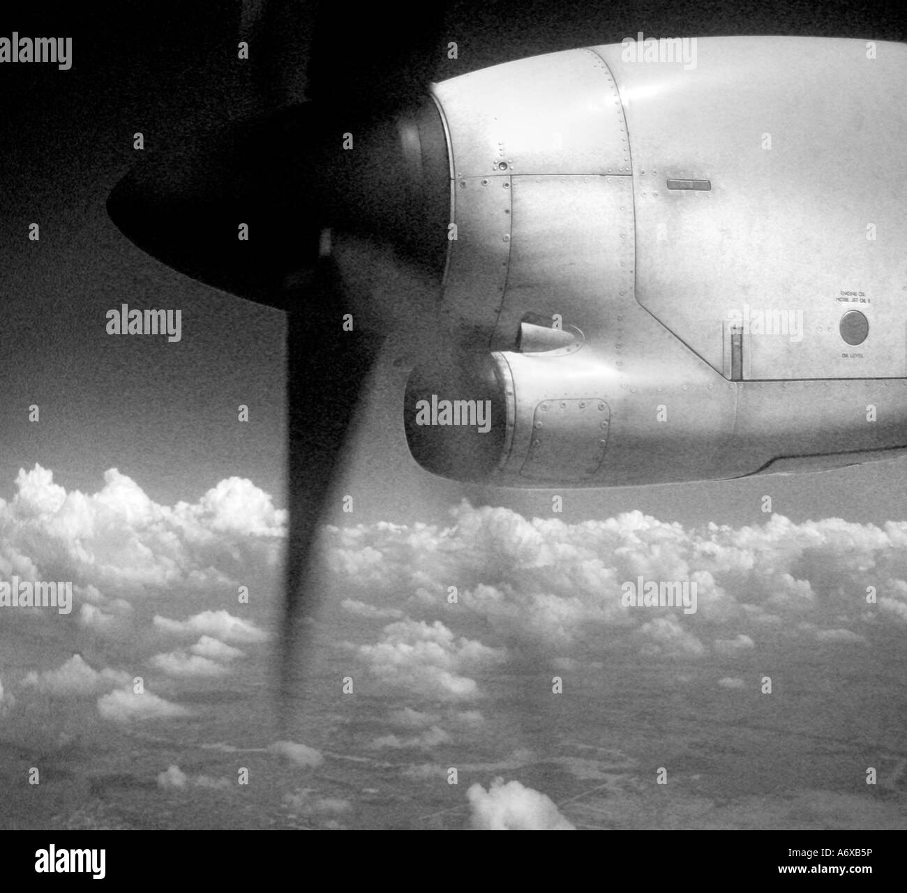 Propeller over Cambodia - Stock Image