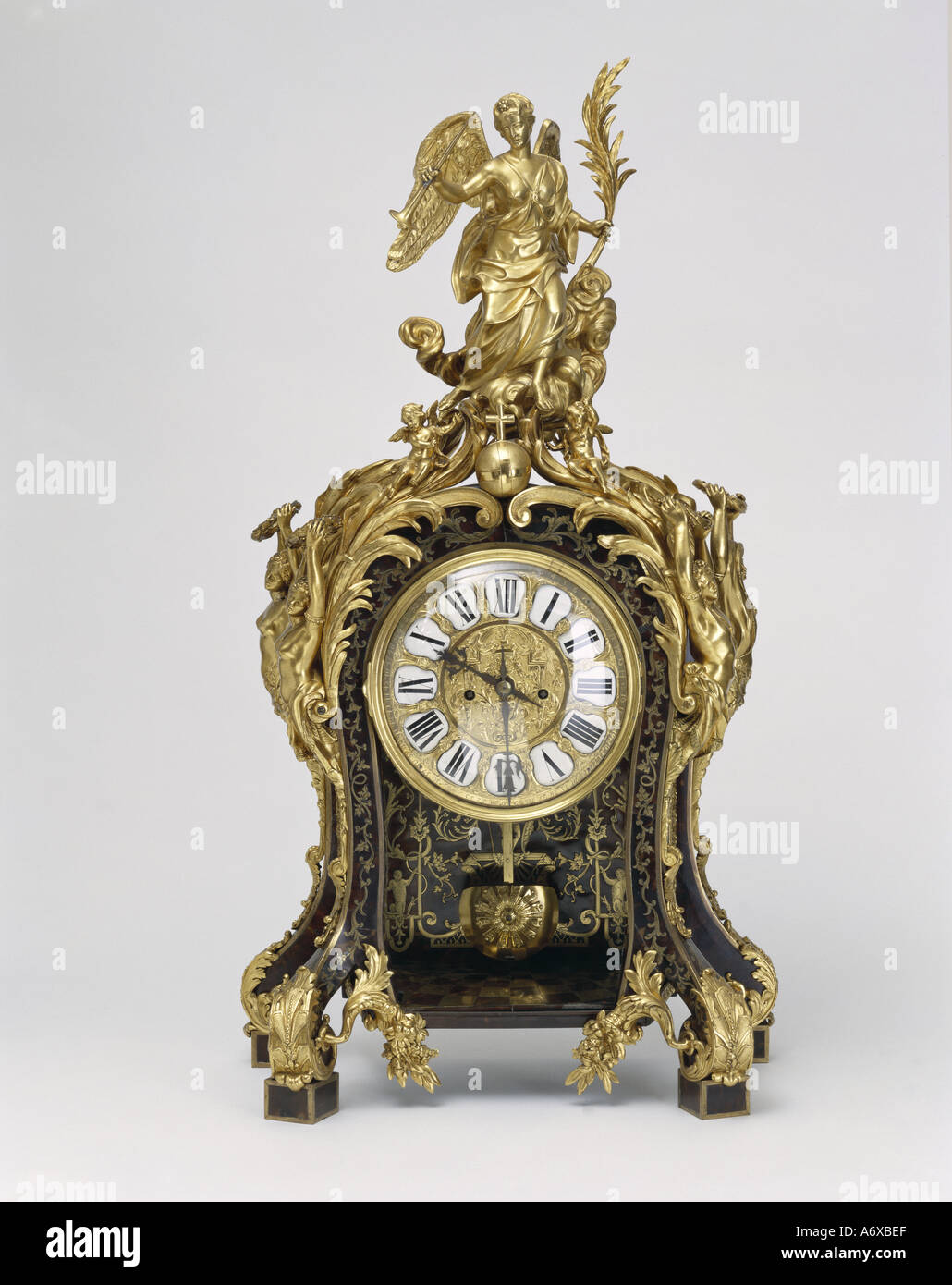 Clock. France, 17th-18th century. - Stock Image