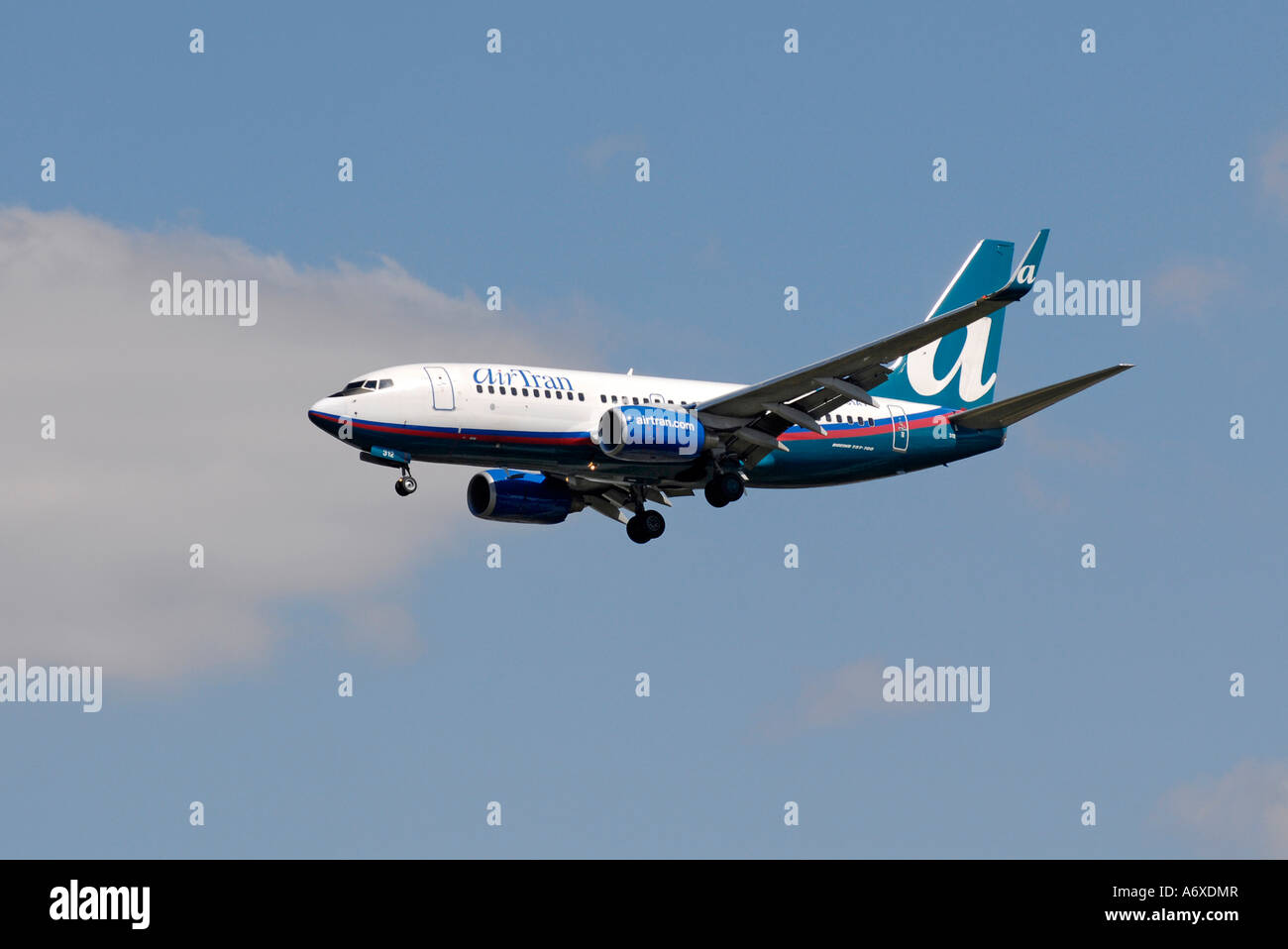 Air Trans Jet airliner aircraft prepare to land at Sarasota