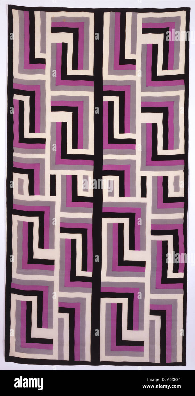 Scarf. Printed silk. France, early 20th century. - Stock Image