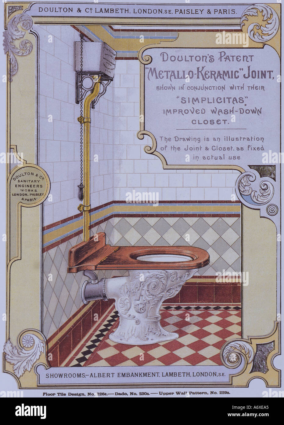 Victorian Bathroom Catalogue. London, England, late 19th century. - Stock Image