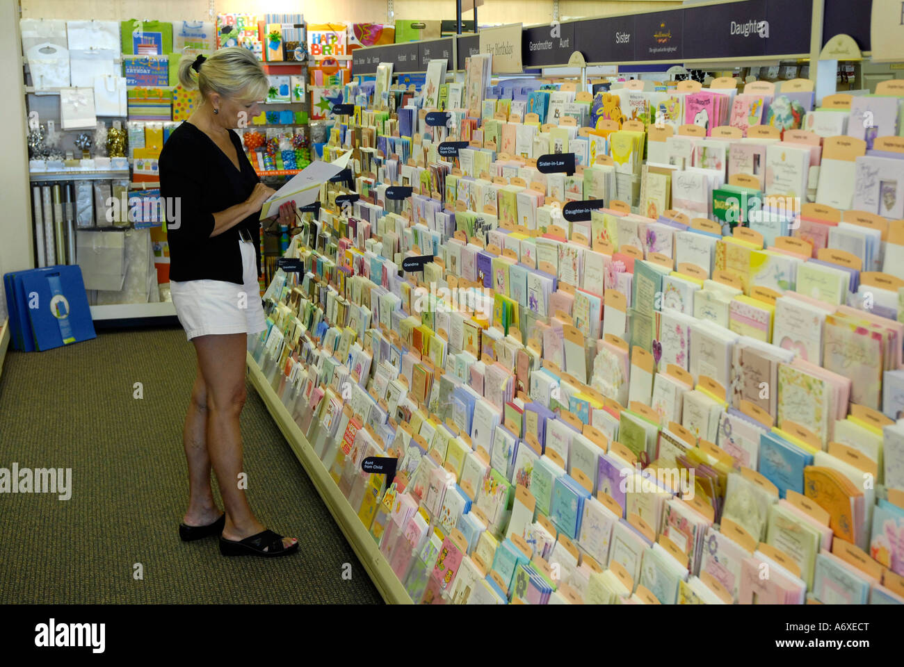 Greeting Card Display Inside A Retail Store Stock Photo 11664503