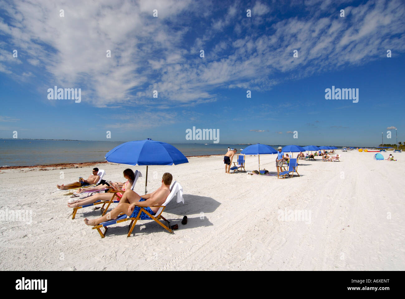 Fort Meyers Beach Florida FL is a popular tourist snowbird student spring break destination recreation and vacation Stock Photo