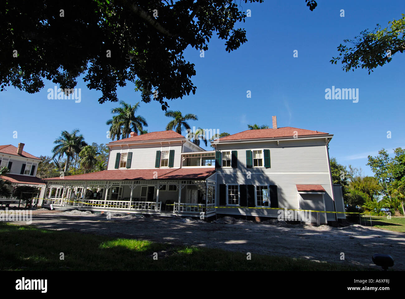 Southwest Ft Fort Meyers Myers Florida FL Edison and Ford Winter Estates Seminole Lodge Stock Photo
