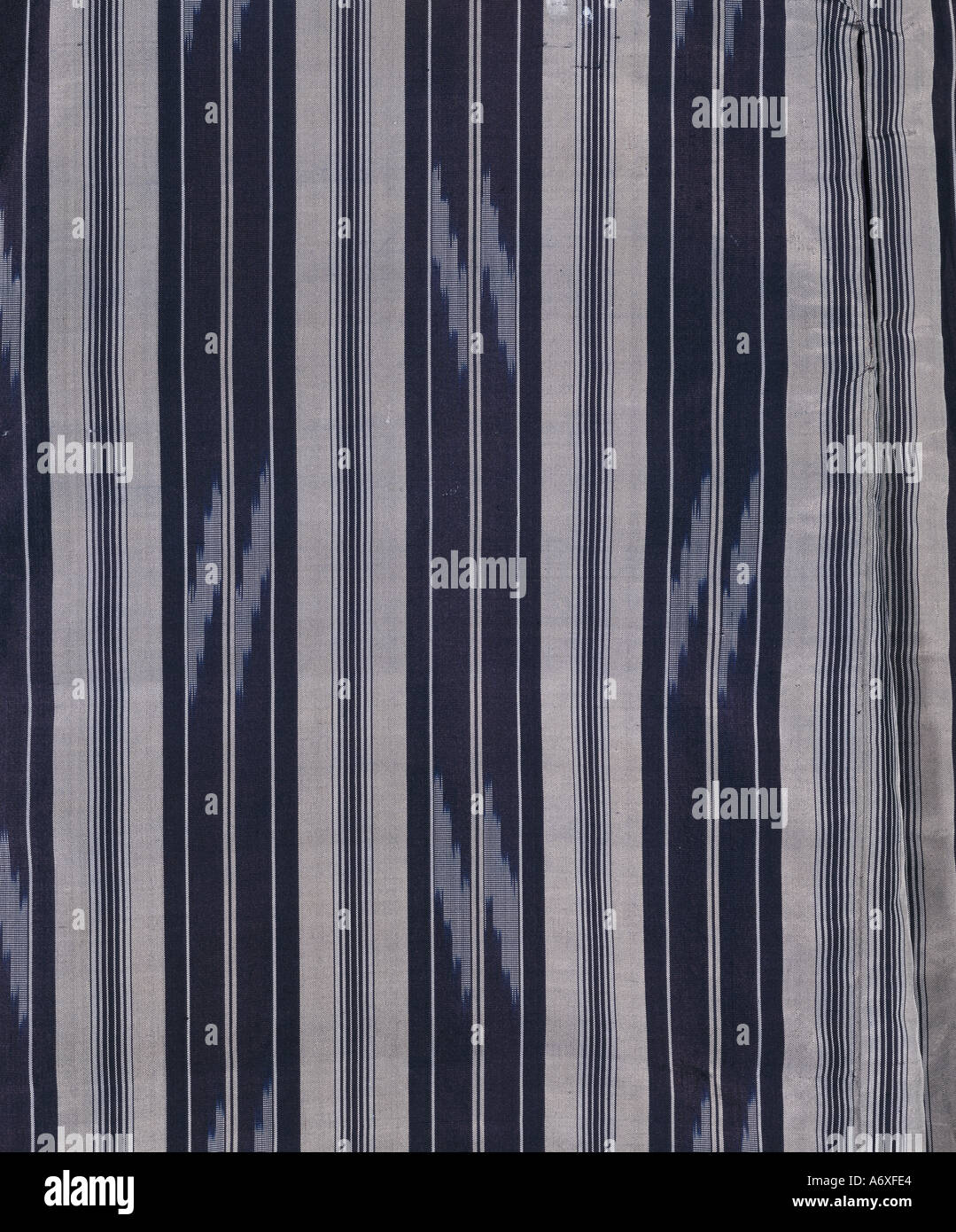 Stripes on kimono. Japan, late 19th century. - Stock Image