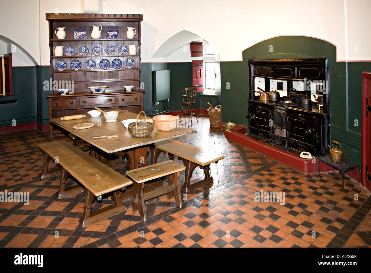 Kitchen With Range And Welsh Dresser Castell Coch Wales UK
