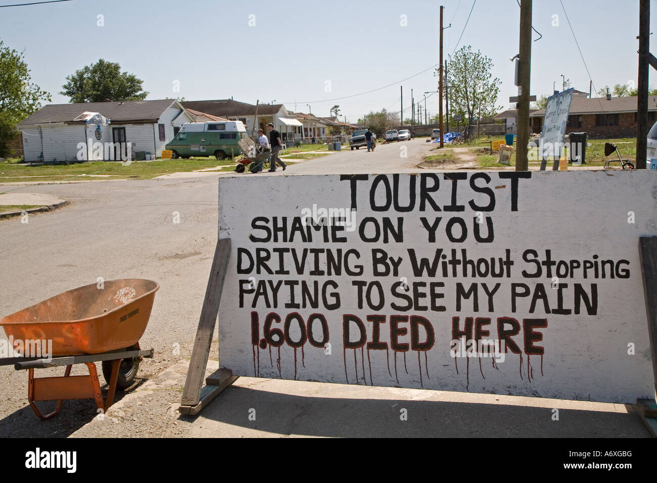 Lower Ninth Ward of New Orleans - Stock Image