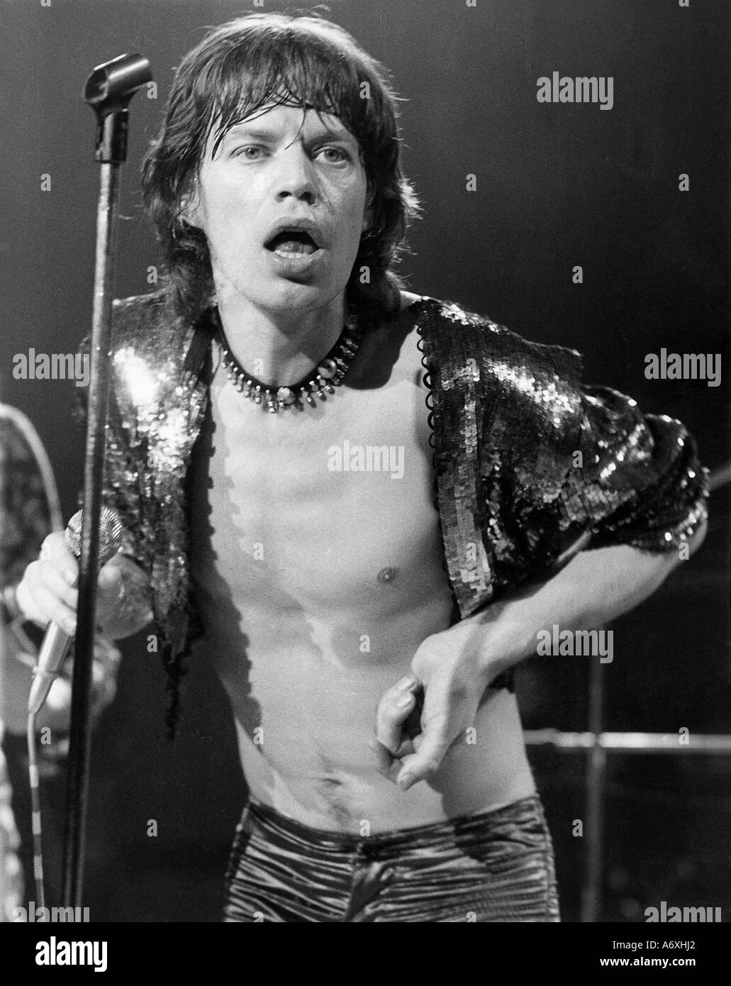 ROLLING STONES Mick Jagger in July 1973 Stock Photo: 6665953