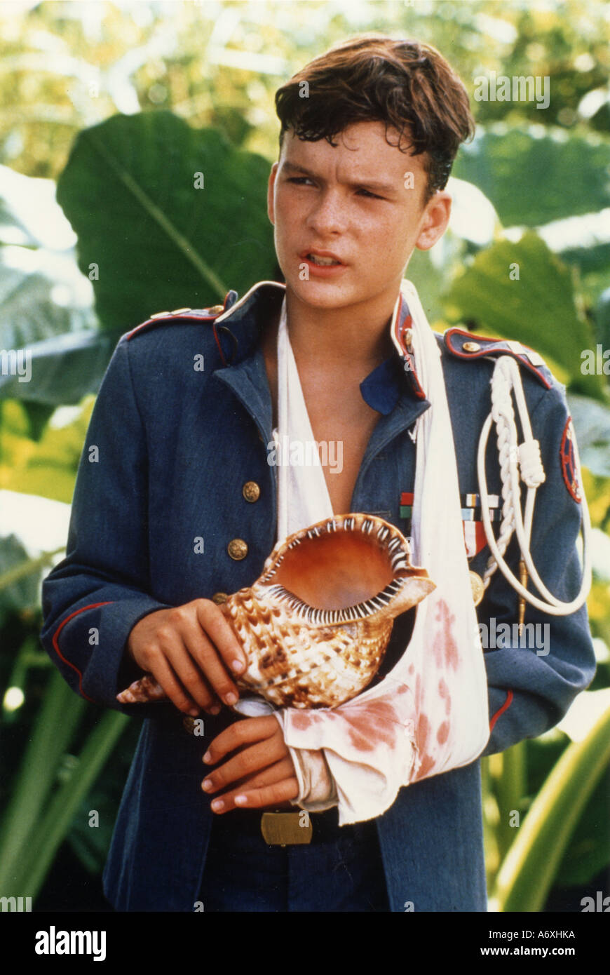 LORD OF THE FLIES Balthazar Getty as Ralph in the 1990 Columbia film - Stock Image