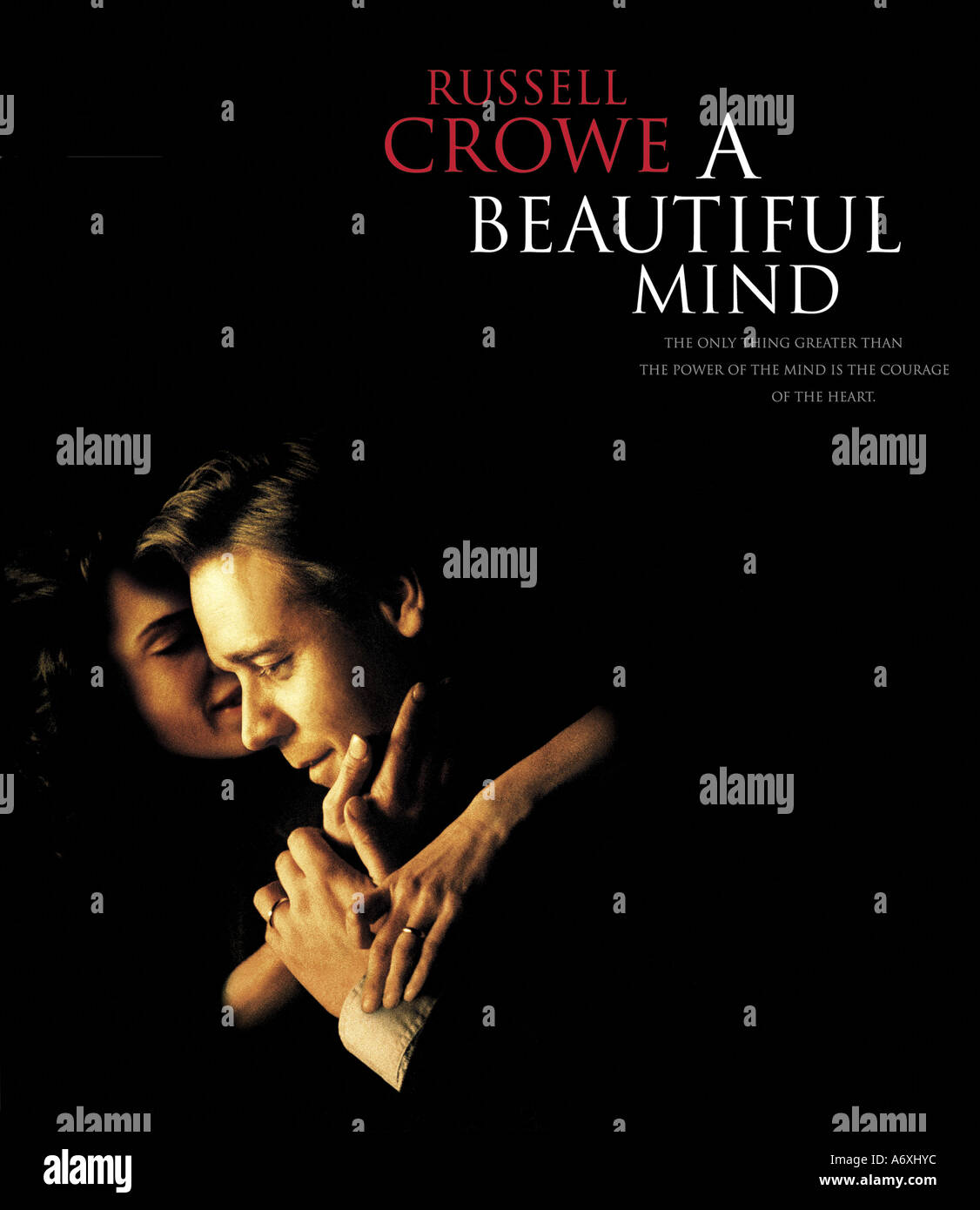 BEAUTIFUL MIND Poster for 2001 Universal film with Russell Crowe Stock Photo