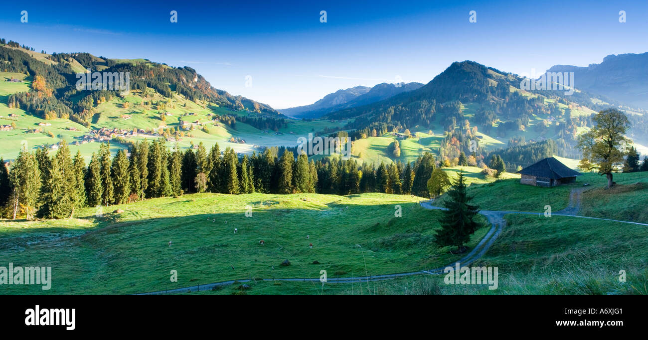 Switzerland Berner Oberland Morning landscape - Stock Image