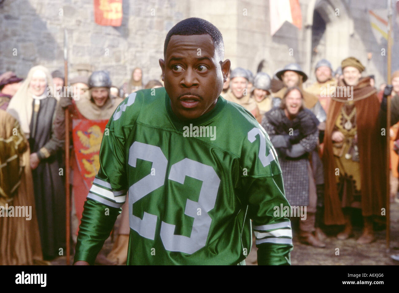BLACK KNIGHT 2001 Twentieth Century Fox film with Martin Lawrence as Jamal - Stock Image