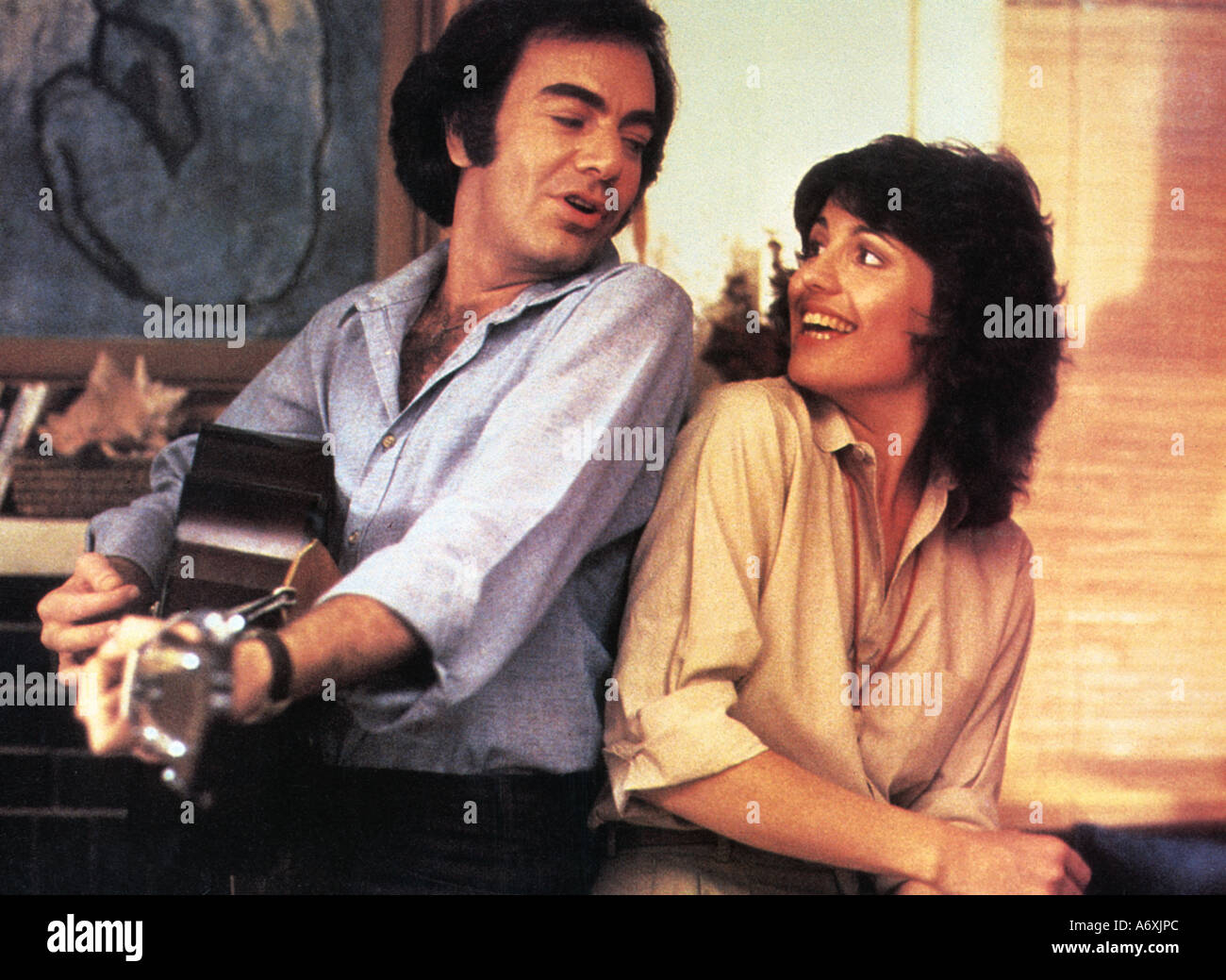The jazz singer neil diamond and lucie arnaz in the 1980 emi film.