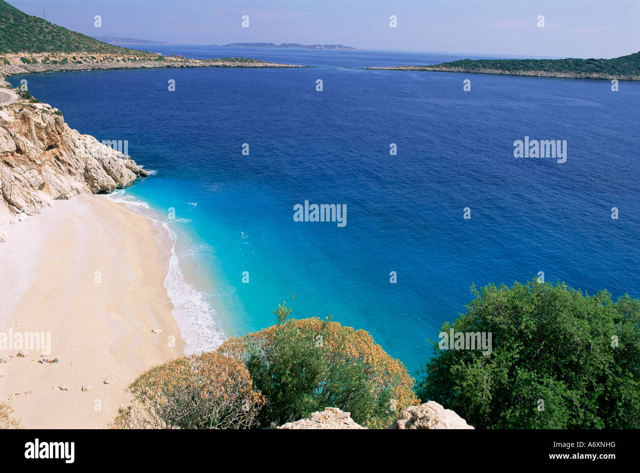 Kaputas Beach Lycia Anatolia Turkey Asia Minor Asia Stock Photo