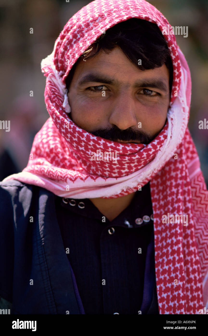 Portrait of a Syrian man Syria Middle East - Stock Image