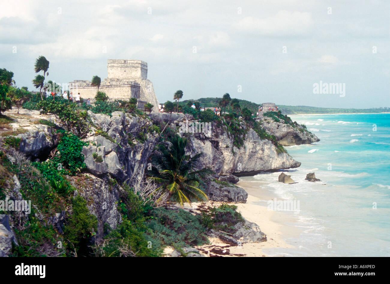 Tulum Maya port in Yucatan - Stock Image