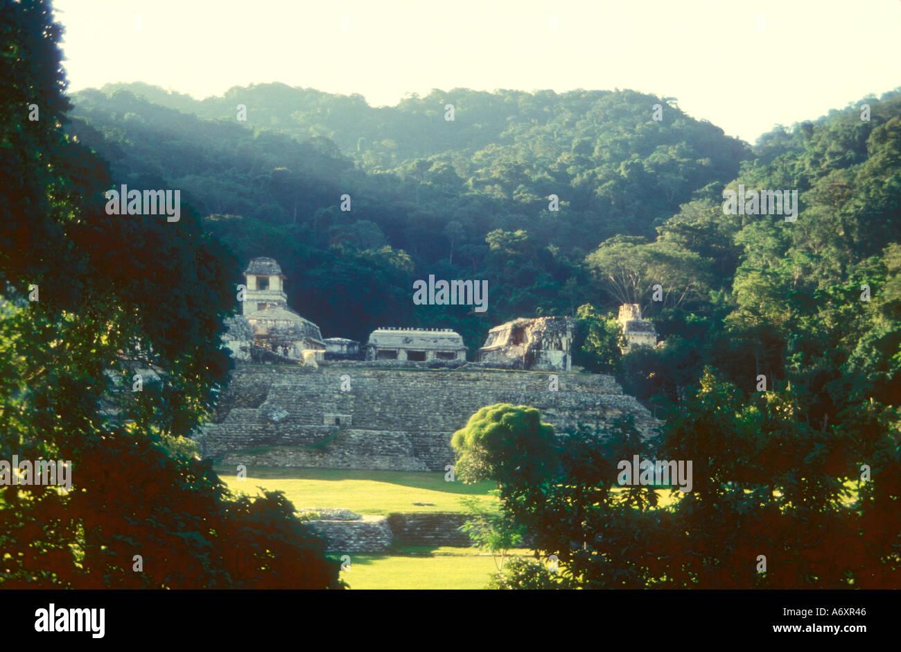 Palenque Maya Palace - Stock Image