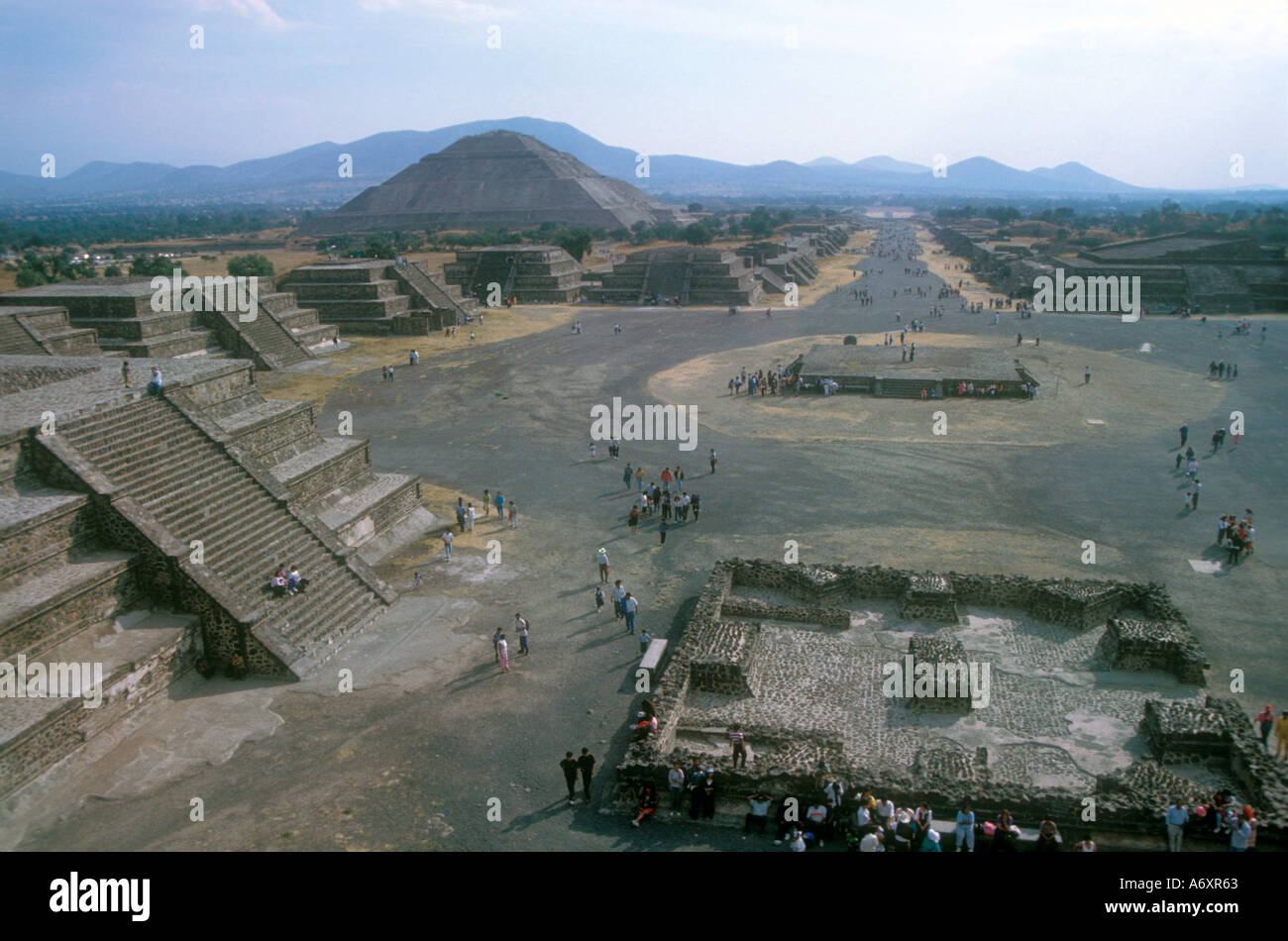 Avenue of the deads in Teotihuacan Mexico Stock Photo