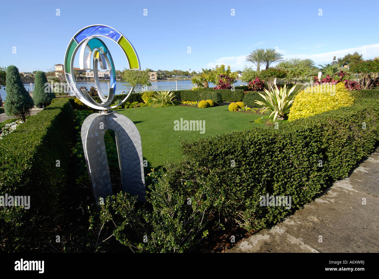 Hollis garden park in the heart of downtown lakeland florida fl usa