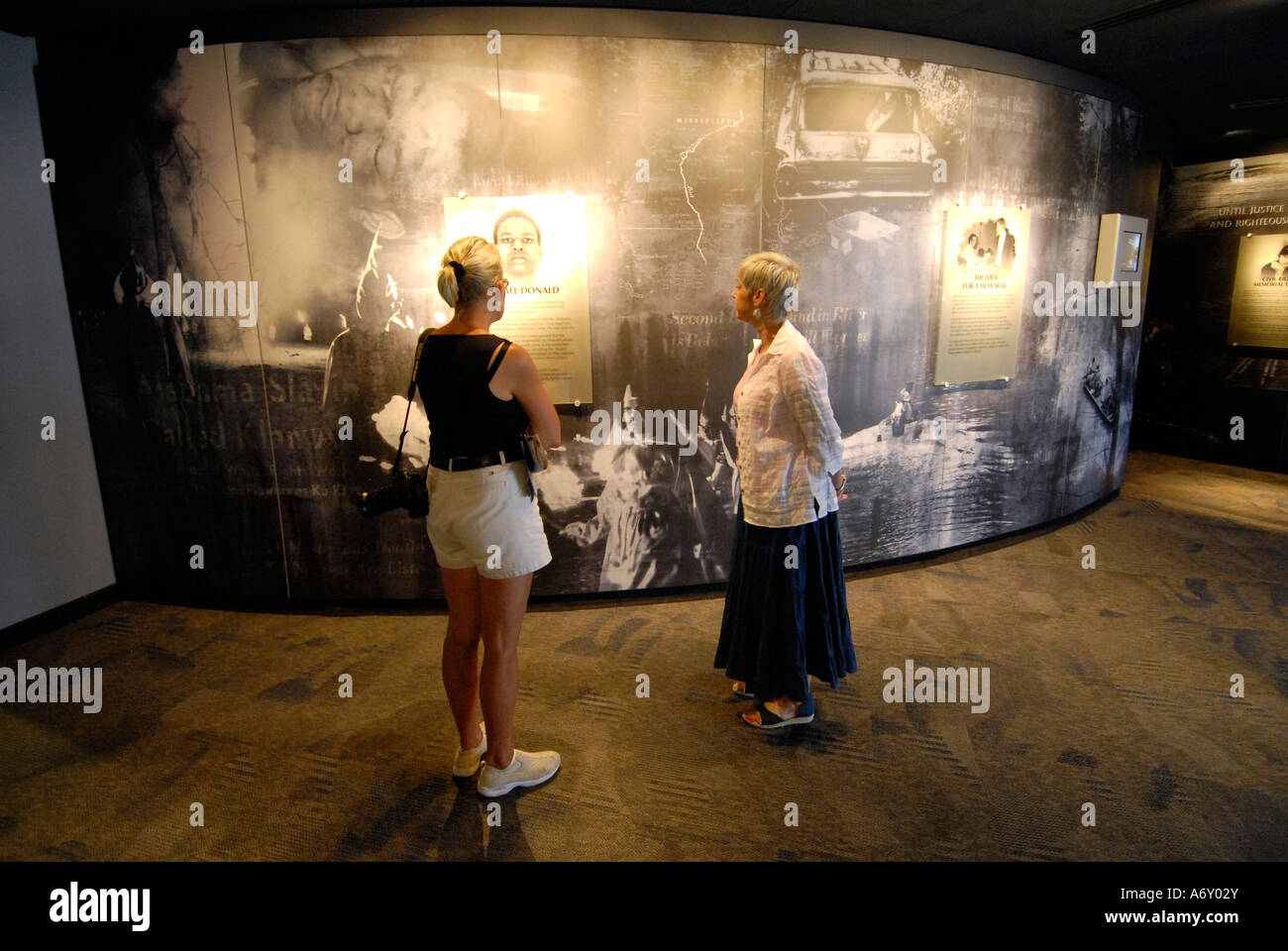 Interior of the Civil Rights Memorial Center located in the historic city of Montgomery Alabama AL - Stock Image