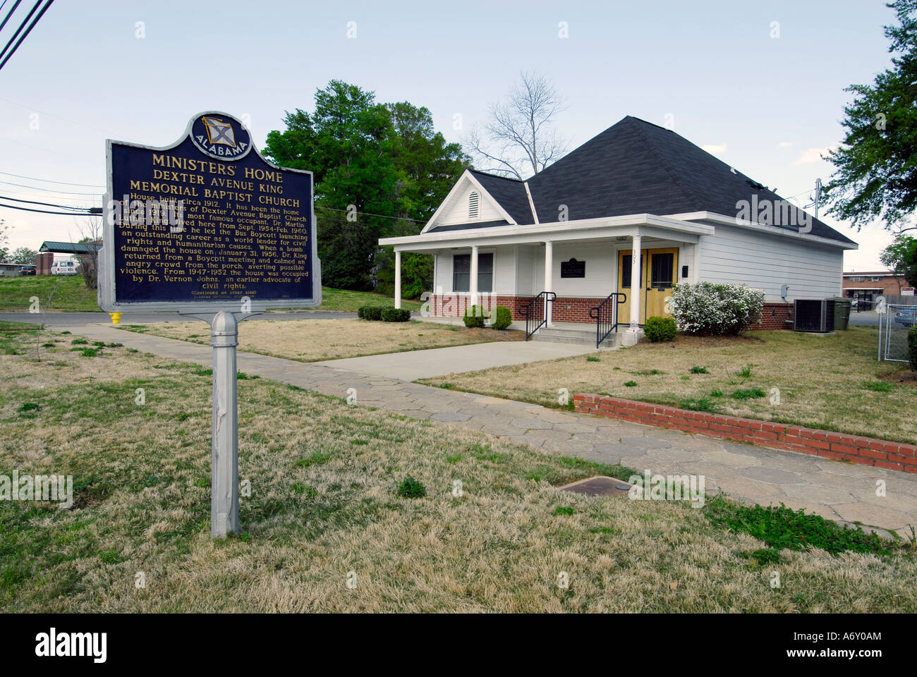 Martin Luther King MLK Ministers home for the Dexter Memorial Baptist Church in the historic city of Montgomery - Stock Image