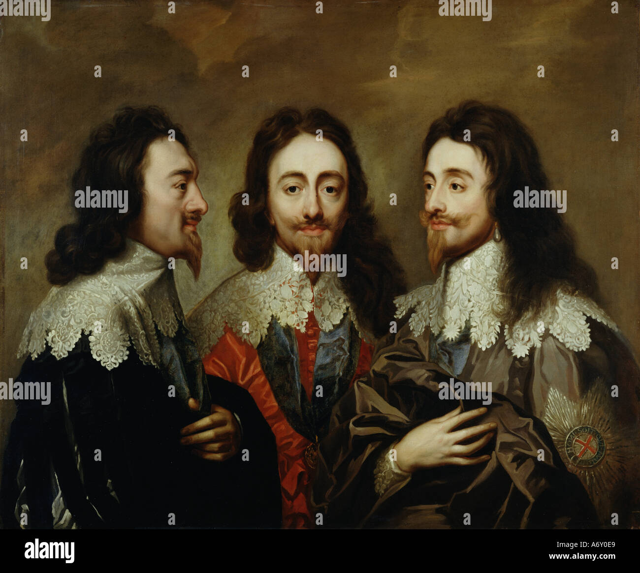 Charles I. Anonymous copy after Sir Anthony van Dyck. England, mid 18th century. - Stock Image