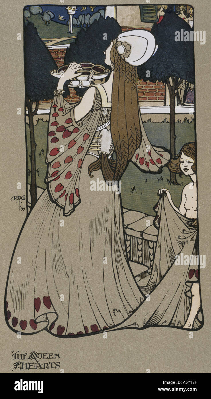 The Queen of Hearts by Percy Gossop. London, 1901. - Stock Image