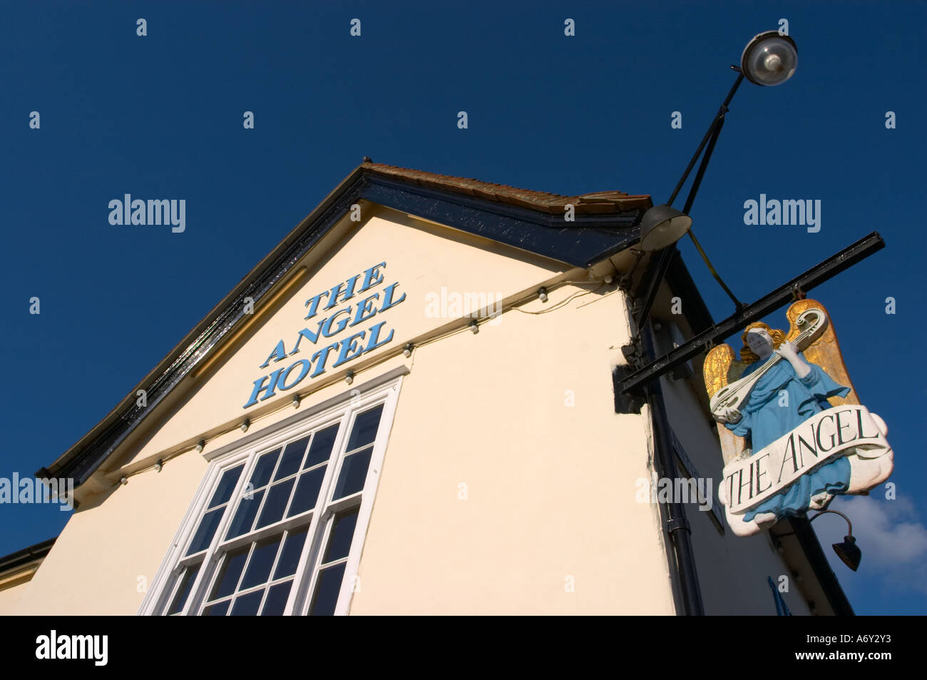 The Angel Hotel Lavenham Suffolk England Stock Photo