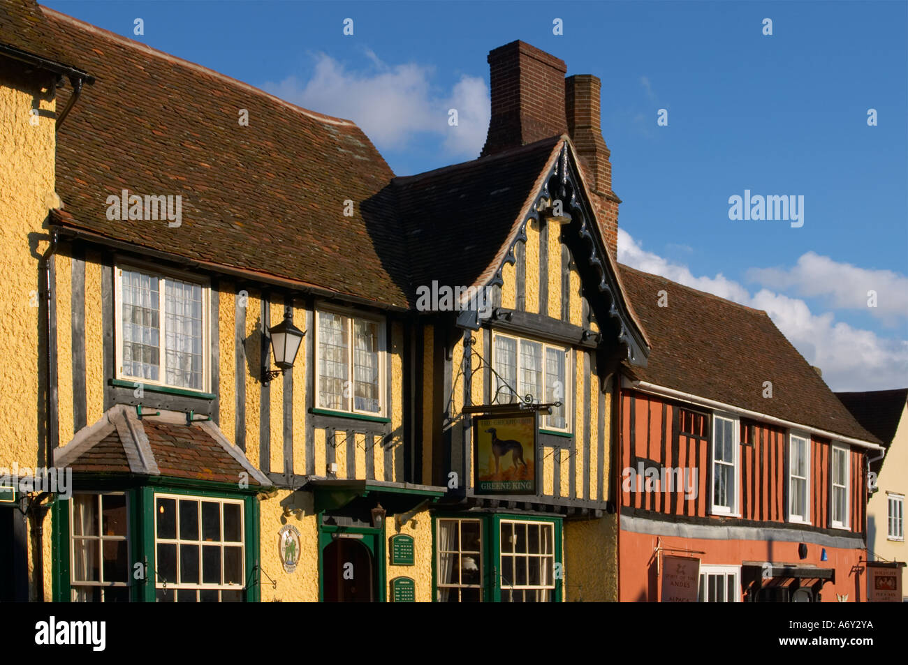 High Street in Lavenham Suffolk England - Stock Image