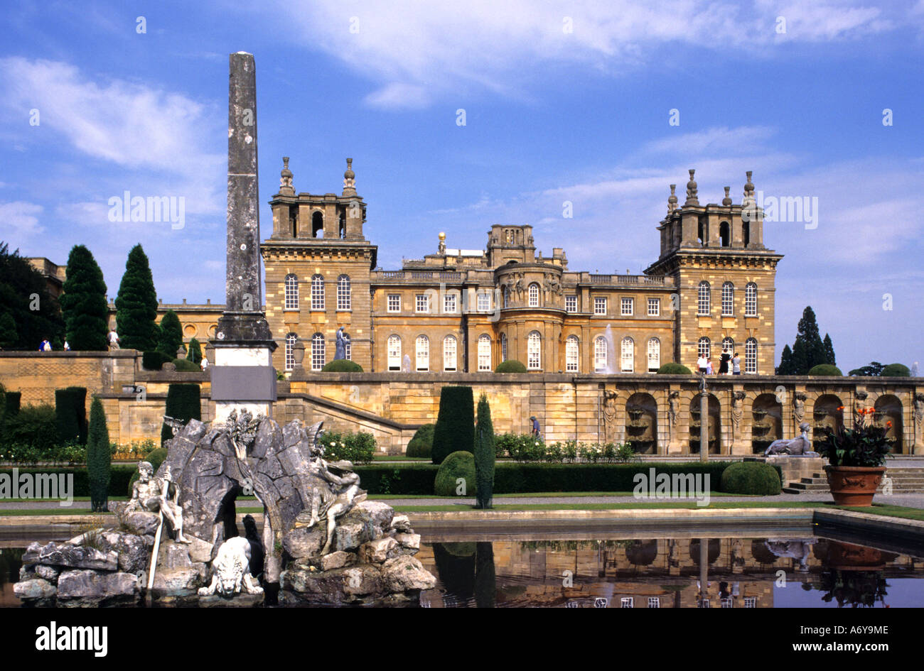 United Kingdom Blenheim Palace Winston Churchill - Stock Image