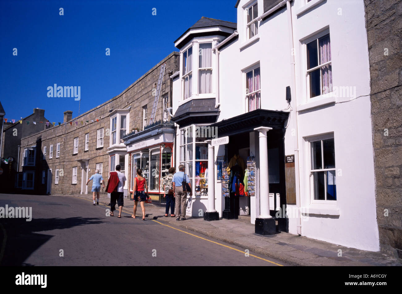 Hugh Town St Mary s Isles of Scilly United Kingdom Europe - Stock Image