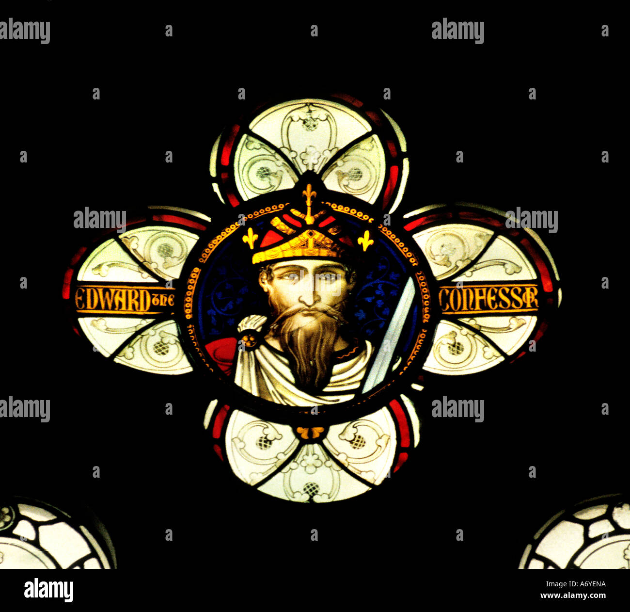 Winchester Cathedral Edward the Confessor Anglo Saxon King of England - Stock Image