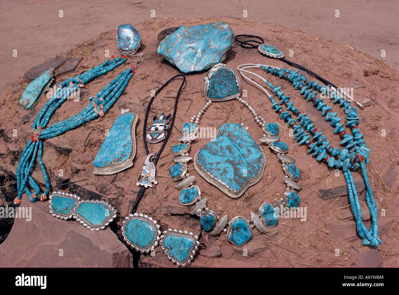 Navajo crafts United States of America North America - Stock Image
