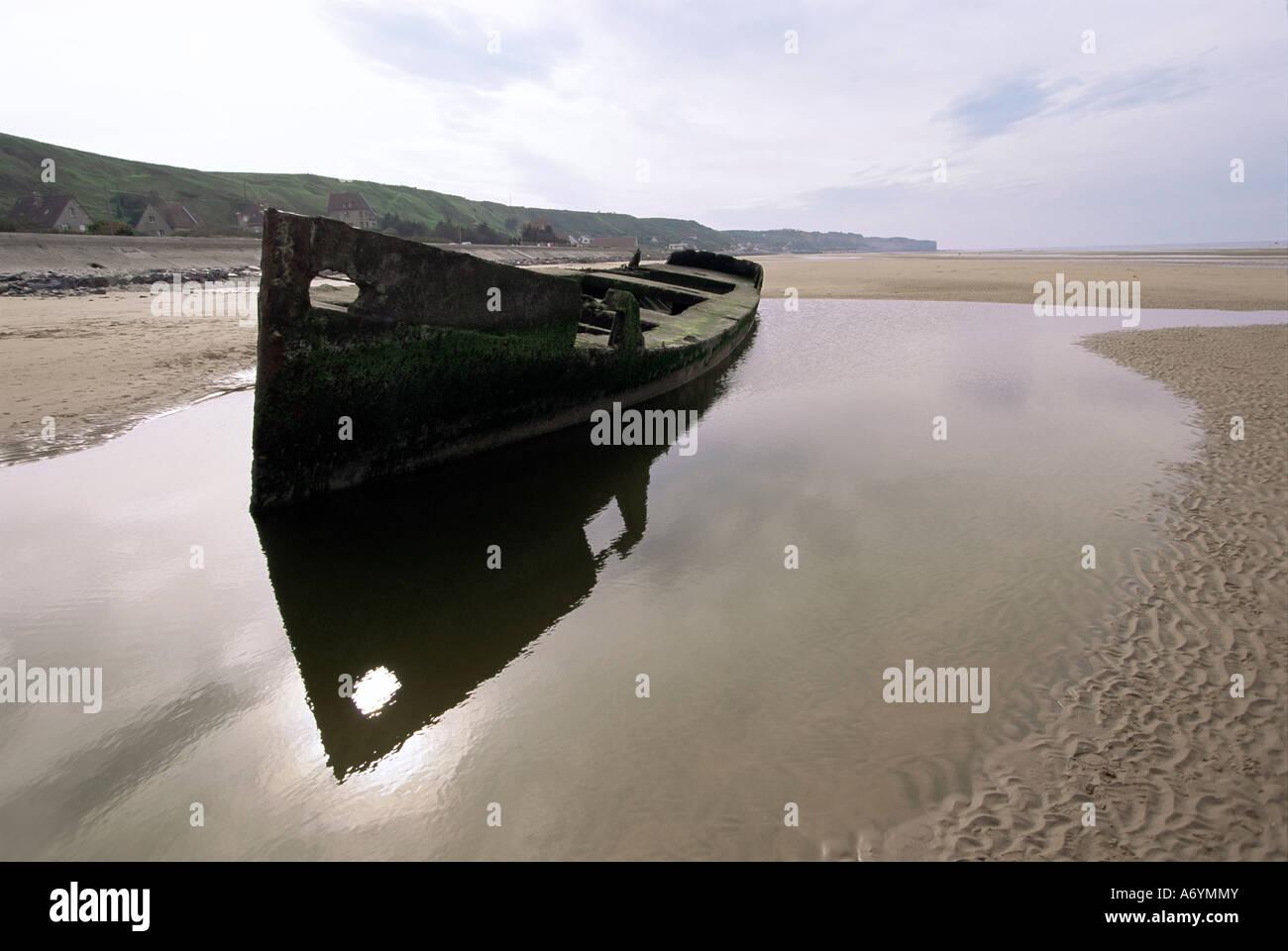 Omaha Beach Basse Normandie Normandy France Europe - Stock Image