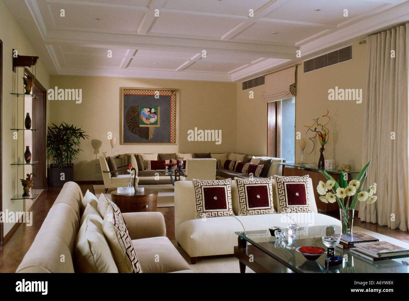 The Contemporary Home Of A Wealthy Owner From India S