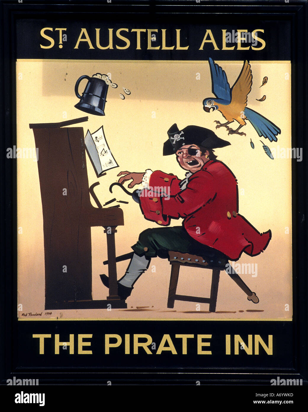 St Austell Ales The pirate inn London city Bar Pub English - Stock Image