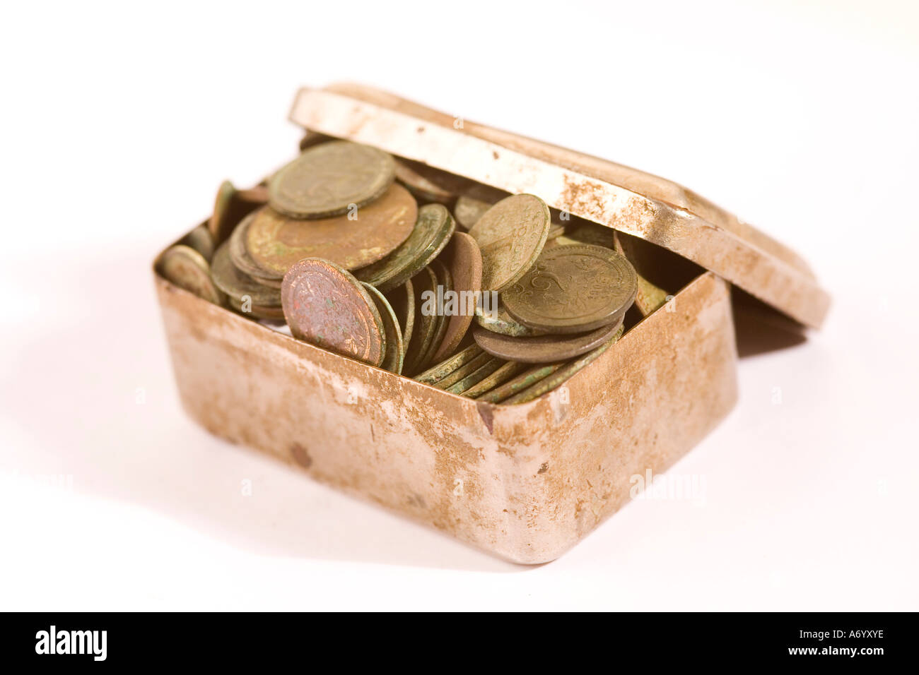 Old collections of coins - Stock Image