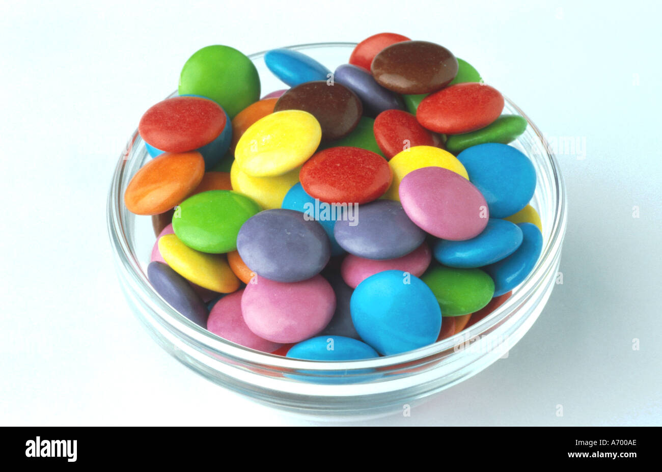 food sweets colored choco drops smarties Stock Photo: 458926 - Alamy