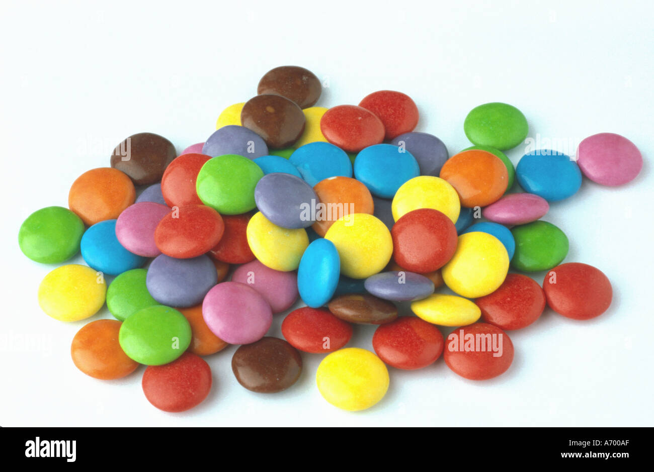 food sweets colored choco drops smarties Stock Photo: 458927 - Alamy