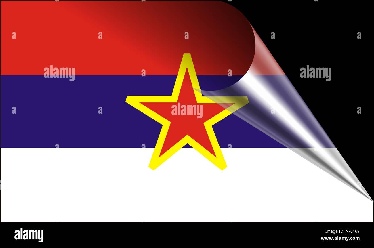 montenegro flag of montenegro Stock Photo