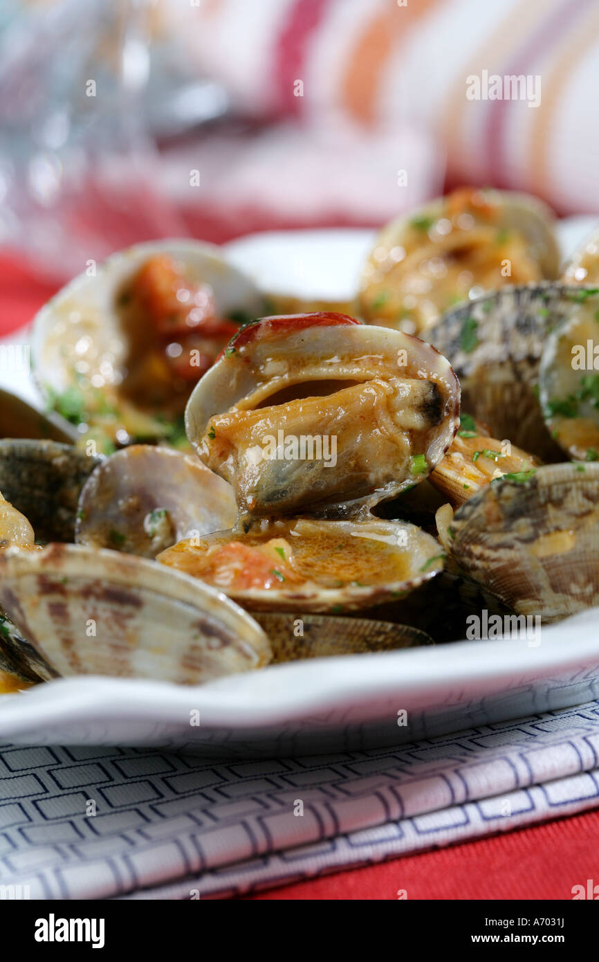 Clams in sauce Stock Photo